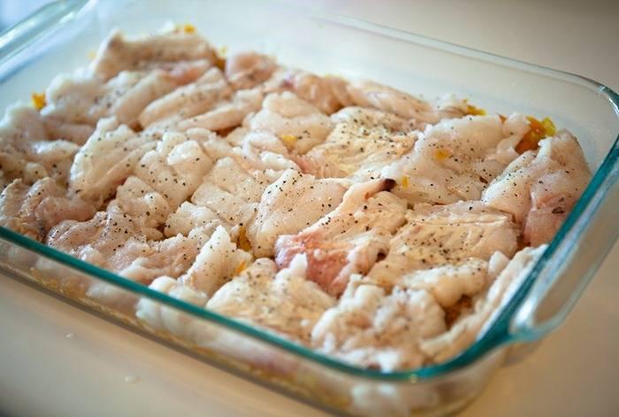 Рыба с цветной капустой в духовке - пошаговый рецепт