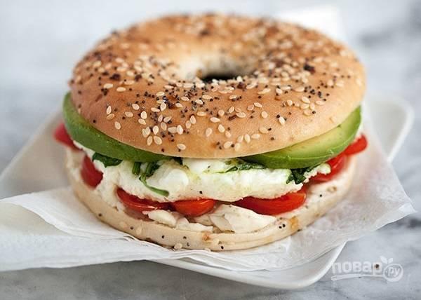 Сэндвич на завтрак - пошаговый рецепт с фото на