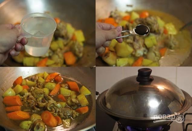 Тушеная картошка с окорочками - пошаговый рецепт с фото на