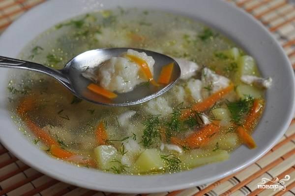 Суп с клёцками фото рецепт