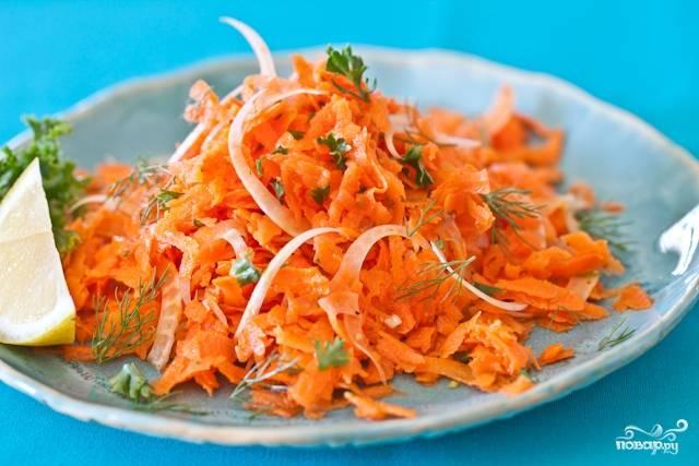 Простой салат из моркови