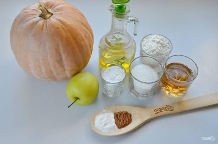 Подготовьте продукты согласно списку. Вместо яблочного сока можно использовать персиковый, апельсиновый, ананасовый или виноградный. Приступим!