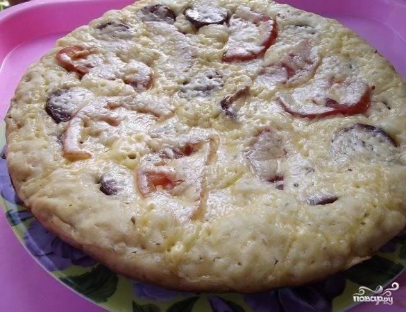 Пицца на сковороде без сметаны