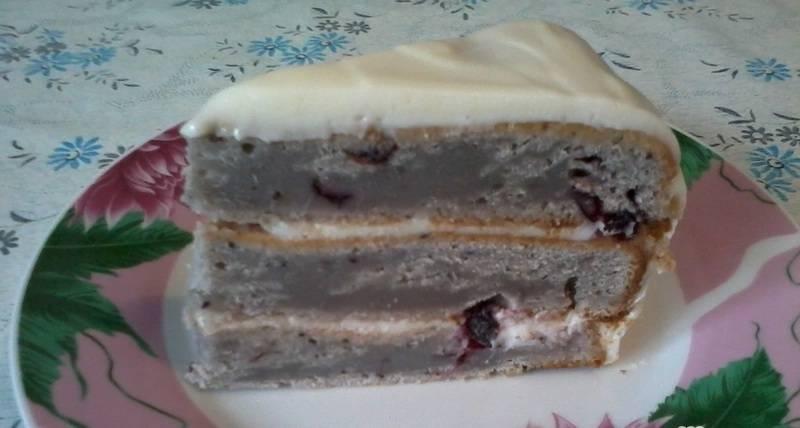 Торт смородиновый на кефире - пошаговый рецепт