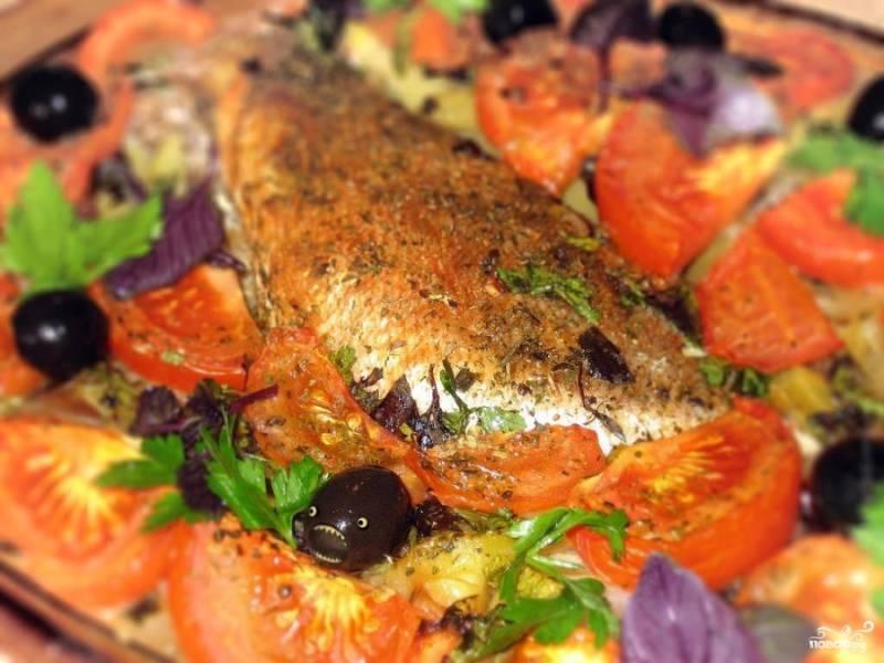 Морской окунь запеченный - пошаговый рецепт с фото на