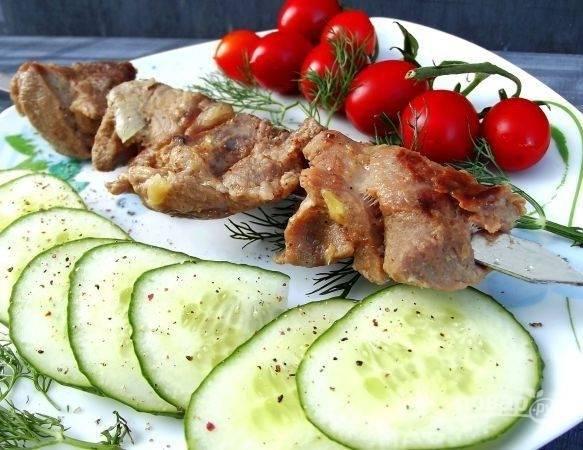 Шашлык на кефире из свинины - пошаговый рецепт