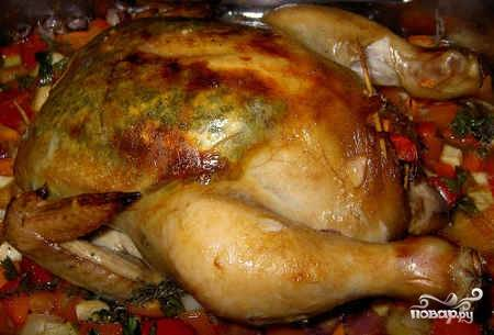 Курица, фаршированная грибами и сыром