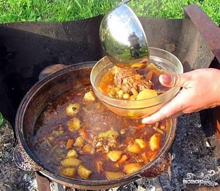Шурпа из баранины в казане пошаговый рецепт с фото