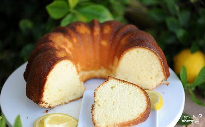 Творожный кекс самый вкусный с лимоном