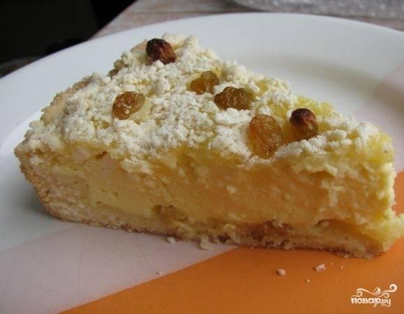Пирог с творожной массой - пошаговый рецепт