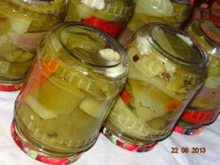 Перец с чесноком на зиму - пошаговый рецепт с фото на