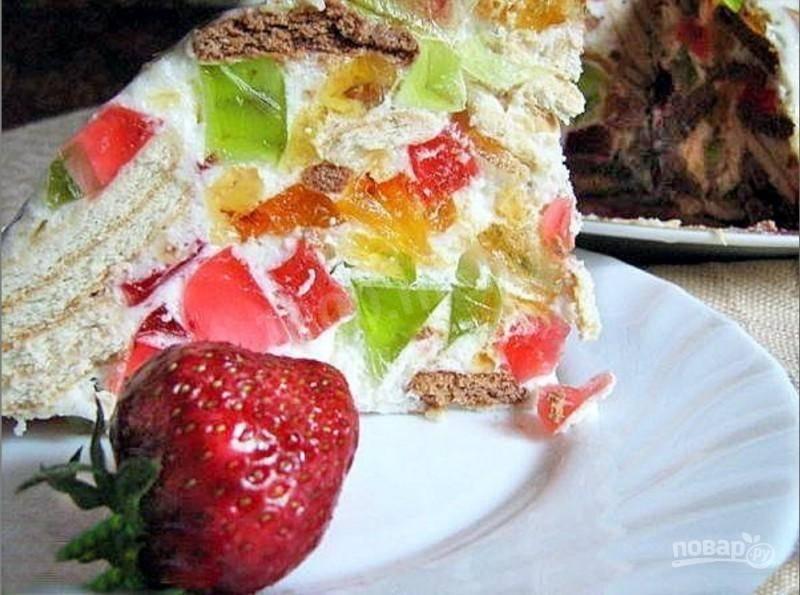 торт битое стекло с печеньем рецепт с фото