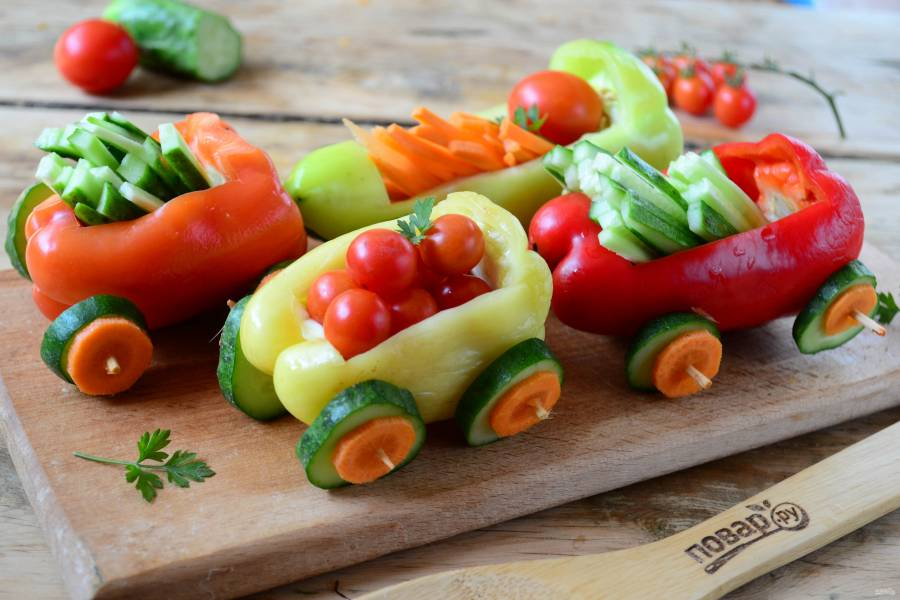 """Нарезка """"Овощной поезд"""""""