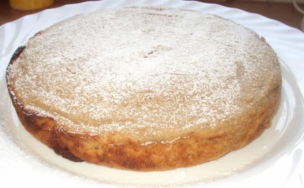 Готовый пирог можно присыпать сахарной пудрой. Приятного аппетита!