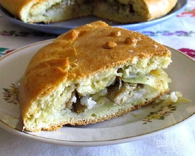 Заливной пирог с капустой на кефире — рецепт с фото ...