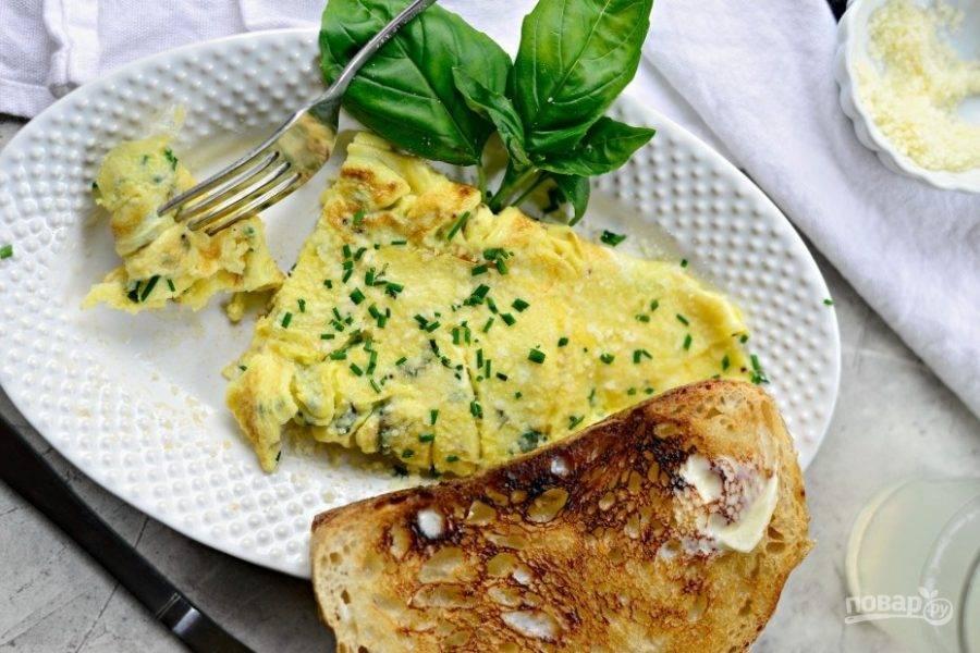 Омлет с пармезаном - пошаговый рецепт