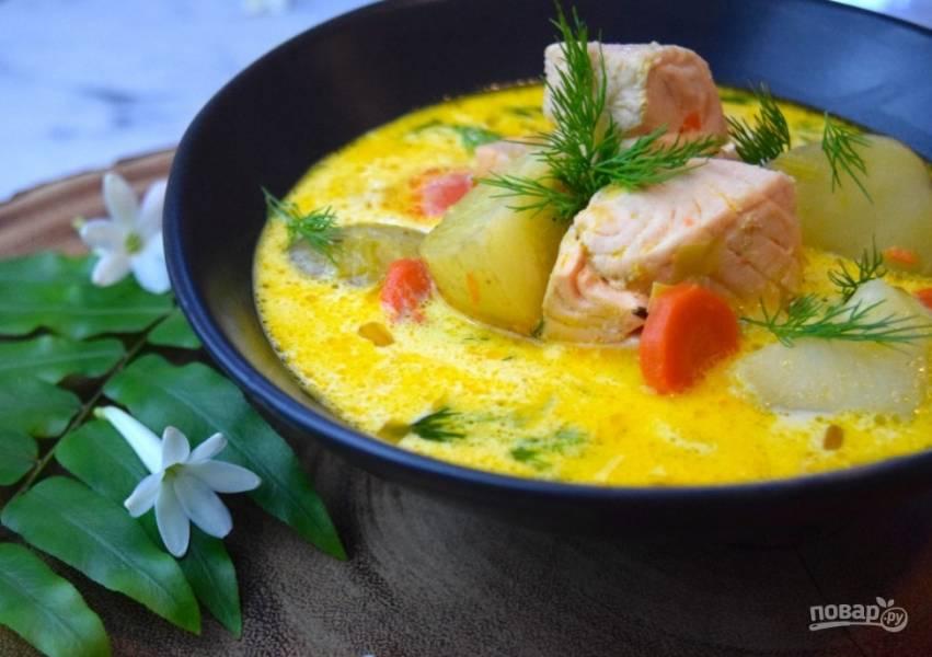 суп из красной рыбы для ребенка рецепт с фото