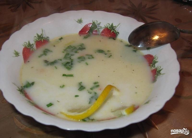 Суп из креветок со сливками