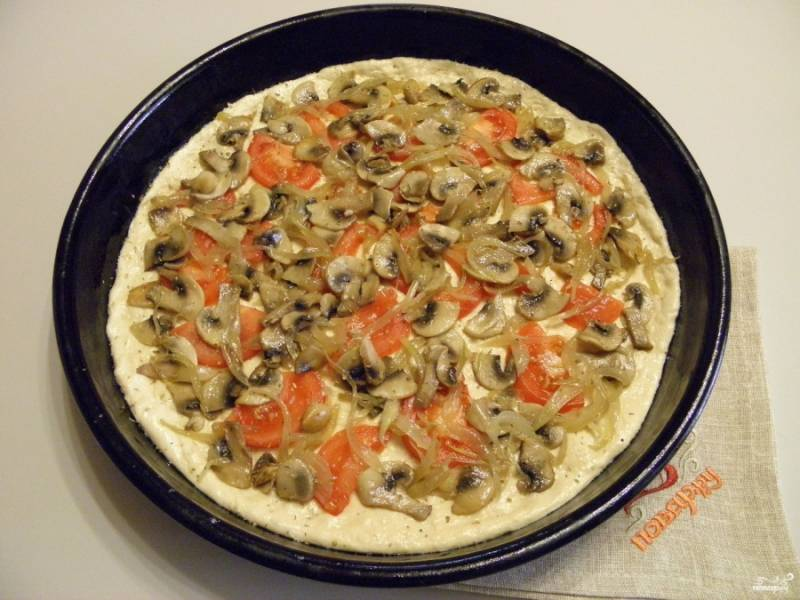Постная пицца - пошаговый рецепт с фото на