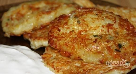 Драники картофельные с сыром - пошаговый рецепт