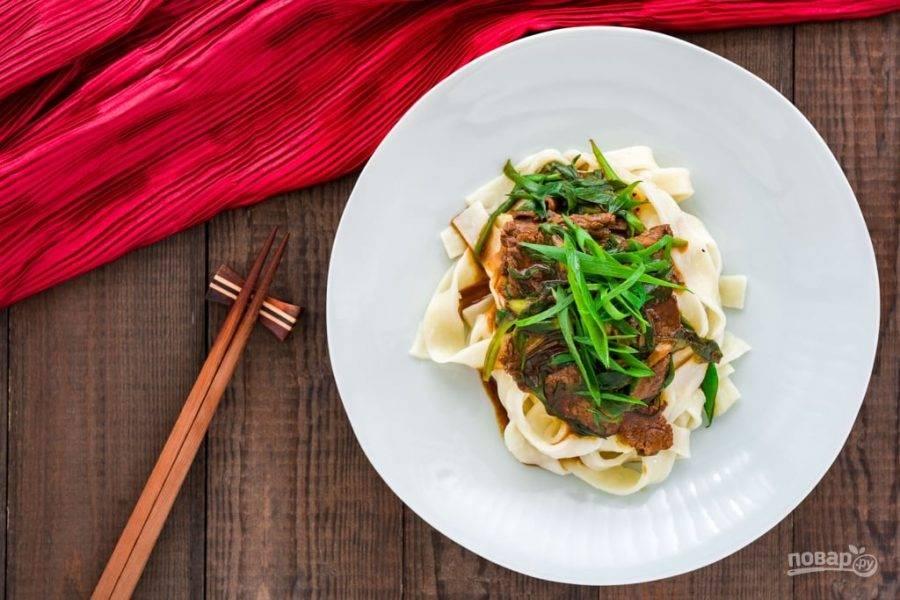 Говядина с зеленым луком - пошаговый рецепт