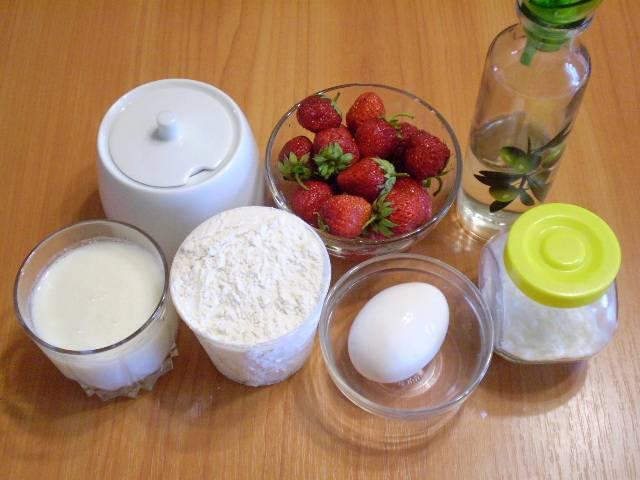 Клубничный пирог на кефире - пошаговый рецепт с фото на