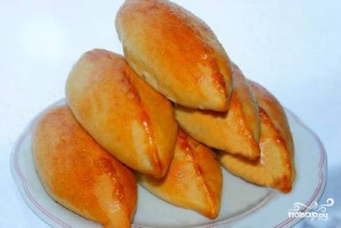 Пирожки с грибами и луком