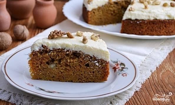 Морковный пирог с орехами - пошаговый рецепт