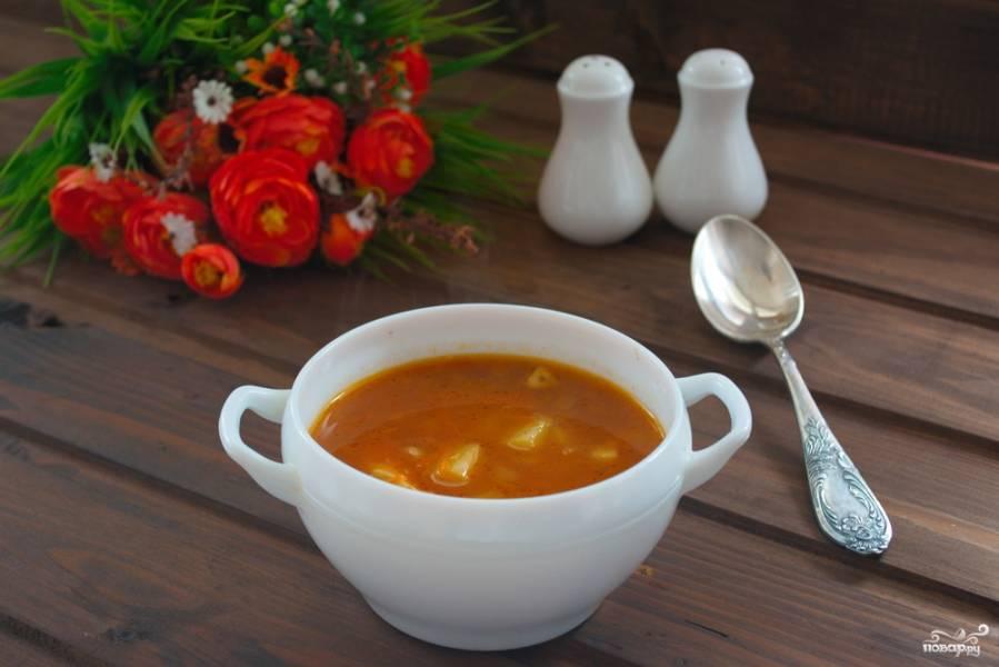 Суп с макаронами и мясом