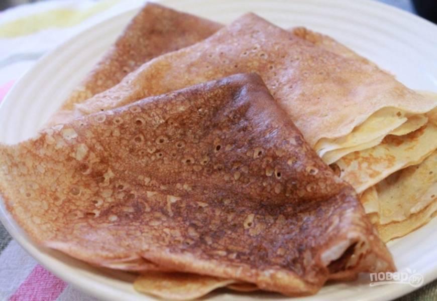 Простой рецепт блинов на кефире