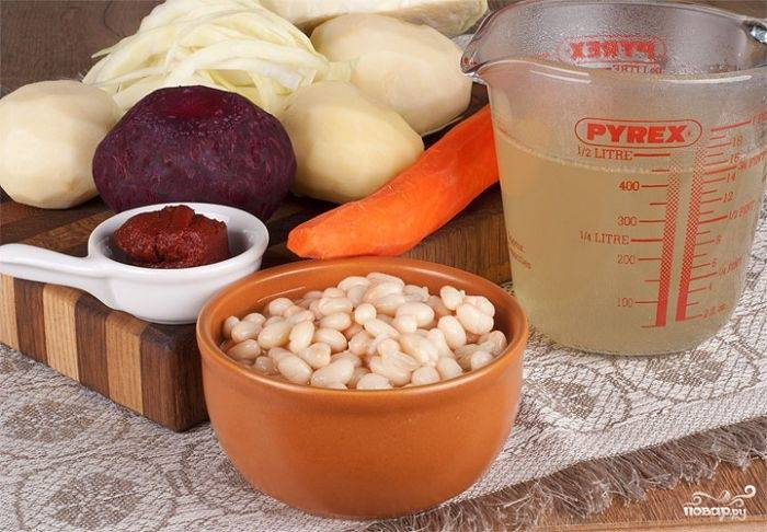 Борщ со свининой и фасолью - пошаговый рецепт с фото на