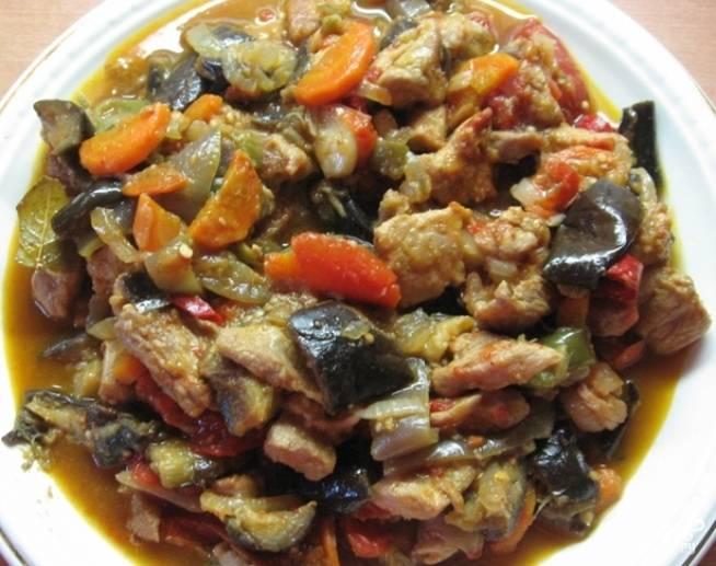 Жареные баклажаны с мясом рецепт фото