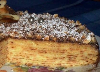Торт - Крепвиль - пошаговый рецепт с фото на