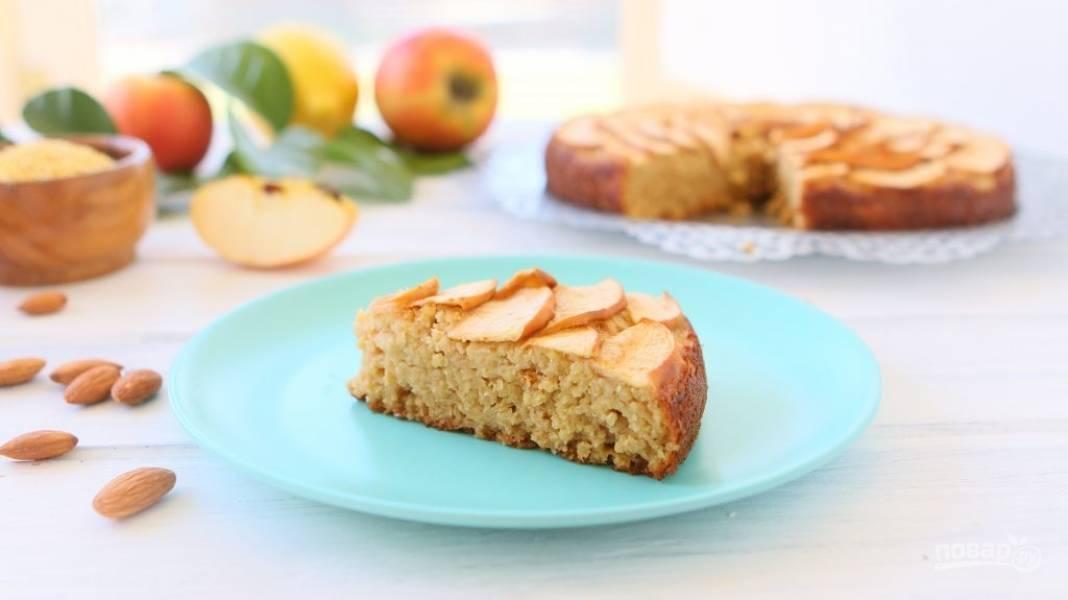 Яблочный пирог без глютена