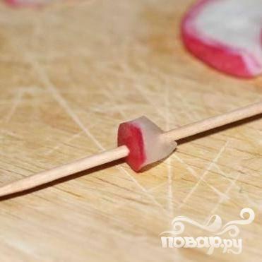 Закуска - Красный цветок - из редиса - пошаговый рецепт с фото на