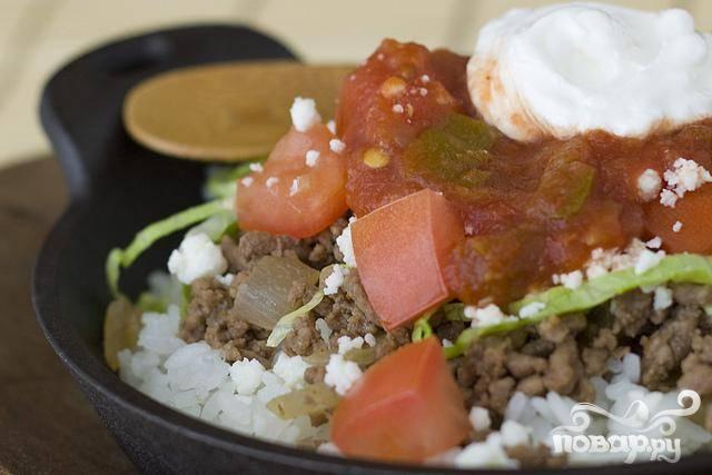 Японский рис с говядиной и сыром - пошаговый рецепт