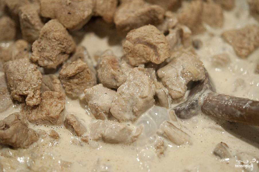 Телятина с шампиньонами - пошаговый рецепт