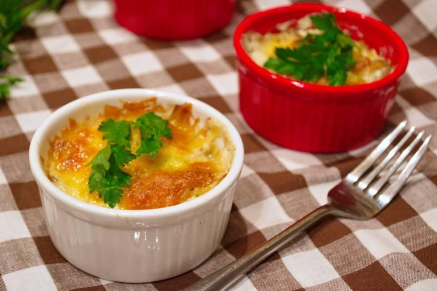 Грибы, запеченные с сыром - пошаговый рецепт