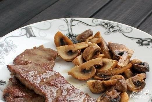 Лангет с грибами