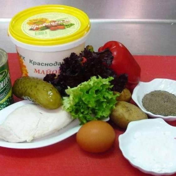 Салат - Столичный - пошаговый рецепт с фото на