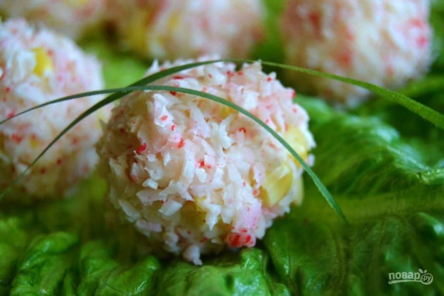 Шарики из крабовых палочек - пошаговый рецепт