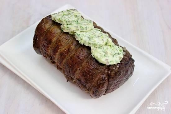 Запеченная говяжья вырезка - пошаговый рецепт с фото на