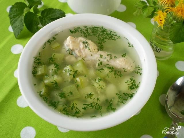 Летний суп с курицей