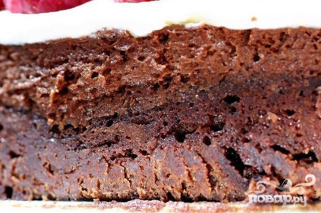 Двойной шоколадный торт с малиной - пошаговый рецепт с фото на