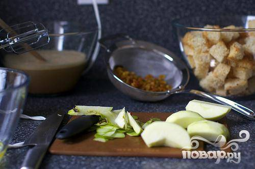 Яблочный пудинг с хлебом - пошаговый рецепт