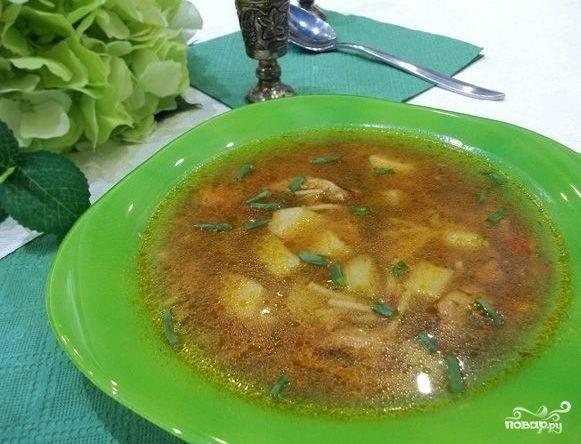 Суп с бычками в томатном соусе
