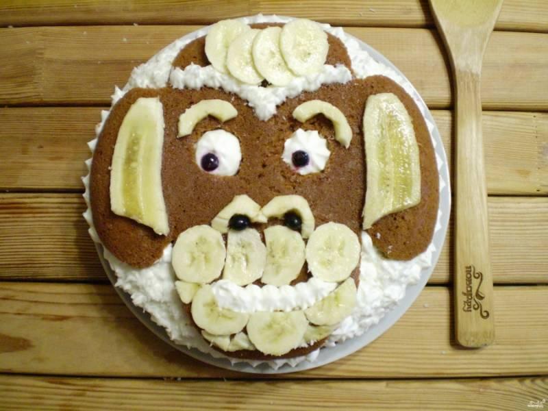 Банановый торт Обезьянка - пошаговый рецепт