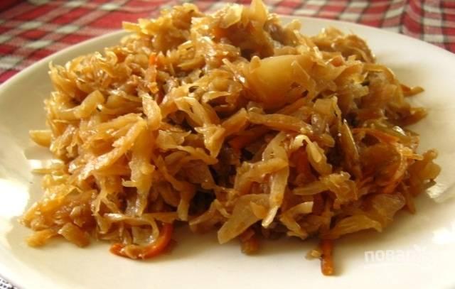 Тушеная капуста - пошаговый рецепт с фото на
