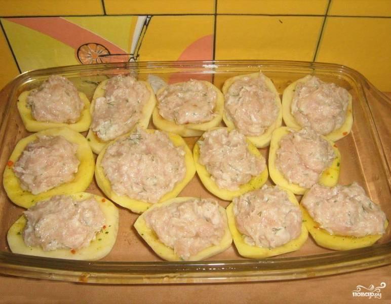Картофель фаршем духовке рецепт фото