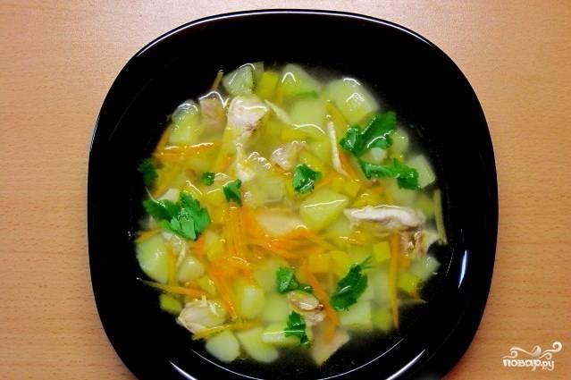 Суп картофельный с курицей